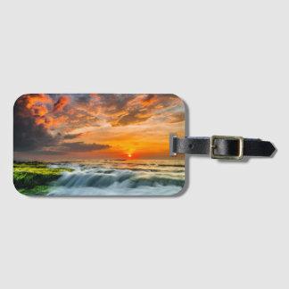 Manyar Beach At Sunrise Luggage Tag