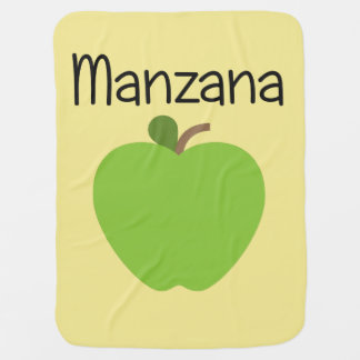 Manzana (Apple) Green Baby Blanket