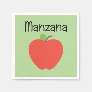 Manzana (Apple) Green Disposable Serviettes