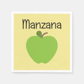 Manzana (Apple) Green Paper Serviettes