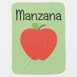 Manzana (Apple) Red Baby Blanket