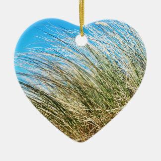 Manzanita Beach Grasses, Coastal Nature Christmas Ornament