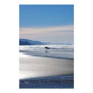 Manzanita Beach - Surfing in Oregon 14 Cm X 21.5 Cm Flyer