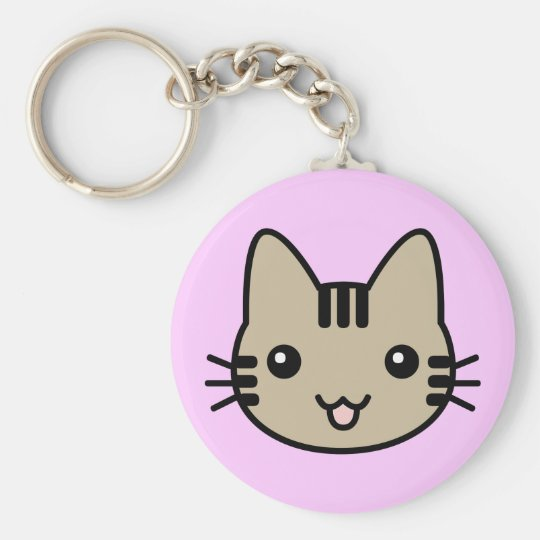 mao basic round button key ring