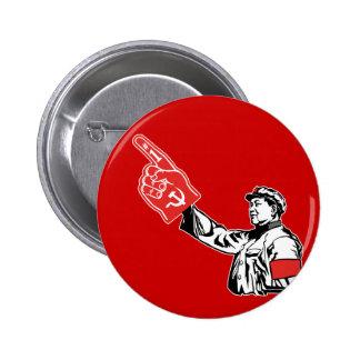 Mao - Communism is #1 6 Cm Round Badge
