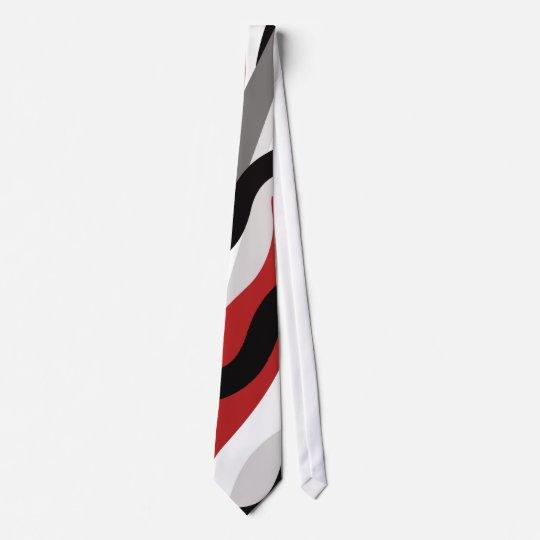 MAO Custom Red, Black, White and Grey Tie