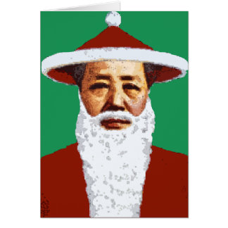 Mao Merry Christmas Chinese Pop Art Santa Claus Card