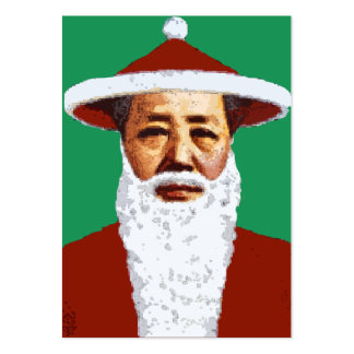 Mao Merry Christmas Chinese Pop Art Santa Claus Pack Of Chubby Business Cards