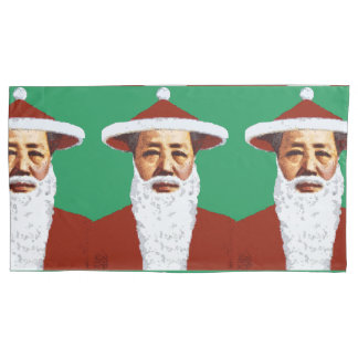 Mao Merry Christmas Chinese Pop Art Santa Claus Pillowcase