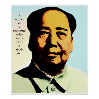 Mao Zedong Journey Quote Poster Print