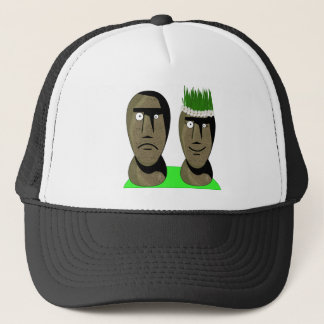 Maoi Heads Truckers Cap