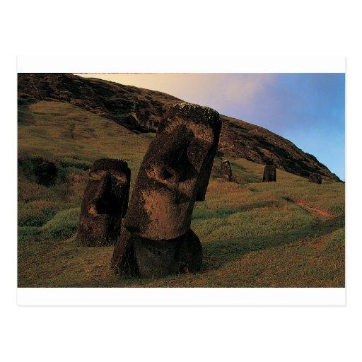 Maoi statues Rapa Nui (Easter Island). Post Cards