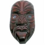 Maori Carved Mask Photo Sculpture Decoration
