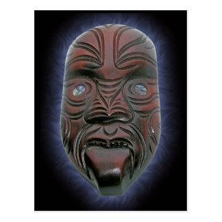 Maori Carved Mask - Postcard
