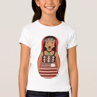 Maori Dancer Matryoshka Girls Baby Doll (Fitted) Tshirts