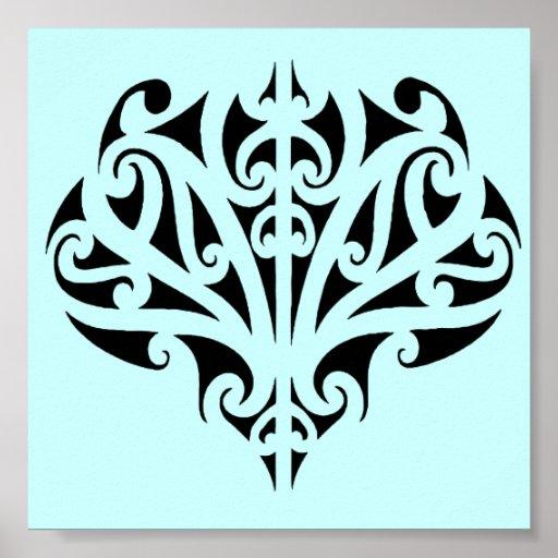 Maori design poster