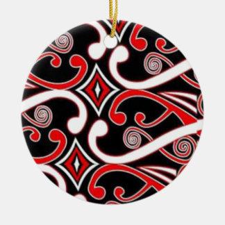 maori designs christmas ornament