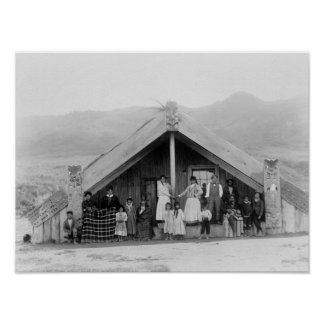 Maori Family at Home PhotographNew Zealand Posters
