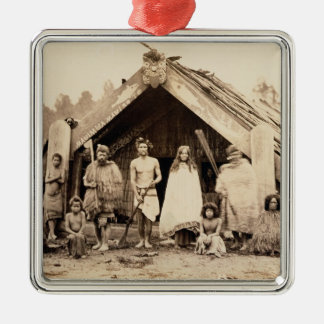 Maori Family, New Zealand, c.1880s (albumen print) Christmas Ornament