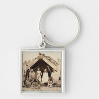 Maori Family, New Zealand, c.1880s (albumen print) Key Ring