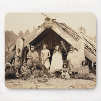 Maori Family, New Zealand, c.1880s (albumen print) Mouse Mat
