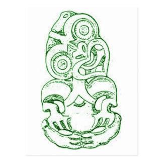Maori Hei-Tiki Sketch Postcard