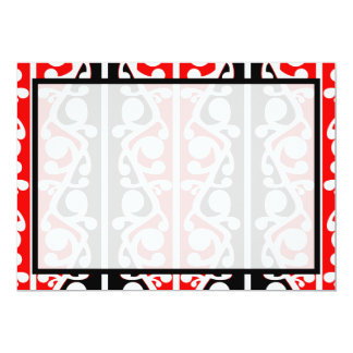 Maori Kowhaiwhai New Zealand 13 Cm X 18 Cm Invitation Card