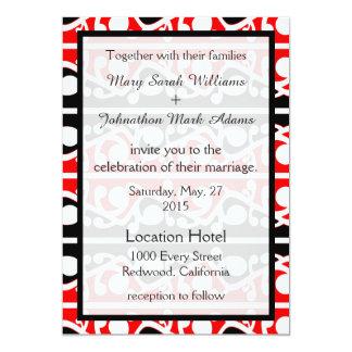 Maori Kowhaiwhai New Zealand Wedding Invitation