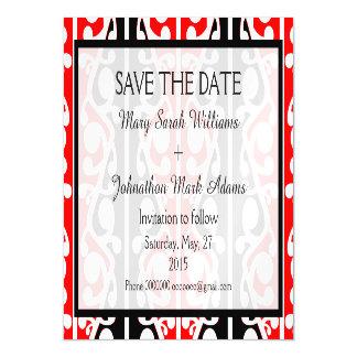 Maori Kowhaiwhai New Zealand Wedding Magnetic Invitations