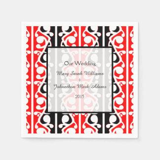 Maori Kowhaiwhai Wedding Keepsake Disposable Napkins