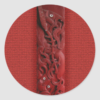 Maori Kupe Carving Sticker