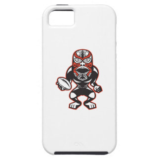Maori Mask Rugby Player Running With Ball Fending iPhone 5 Covers