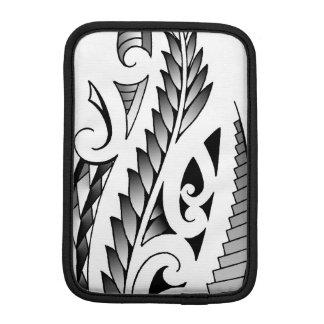 Maori silverfern tattoo pattern with fern leafs iPad mini sleeve