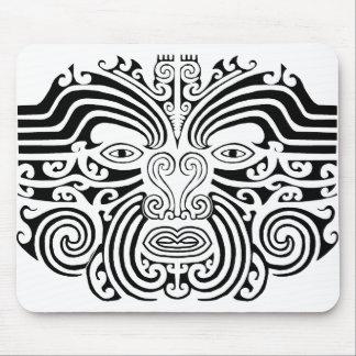 Maori Tattoo - Black and White Mouse Mat