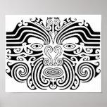 Maori Tattoo - Black and White Poster