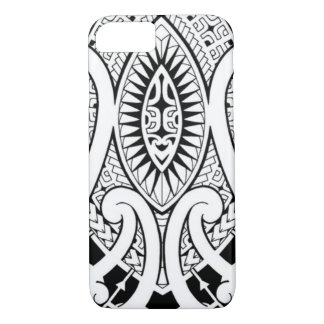 Maori tattoo design with tribal patterns iPhone 7 case
