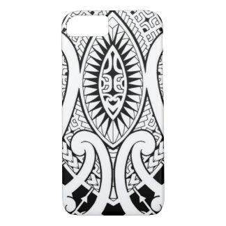 Maori tattoo design with tribal patterns iPhone 7 case