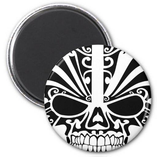 Maori Tattoo Mask Skull Refrigerator Magnets