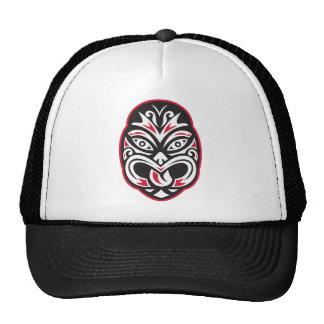 maori tiki moko tattoo mask cap