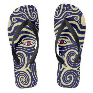 Maori Tribal Indian Flip Flops - Zorries