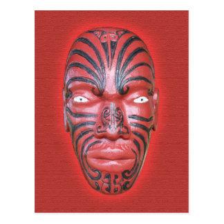 Maori War Canoe Figurehead - Postcard