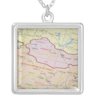 Map 2 silver plated necklace