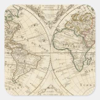 Map 2 square sticker
