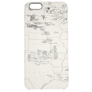 MAP: AMERICAN INDIANS 2 CLEAR iPhone 6 PLUS CASE
