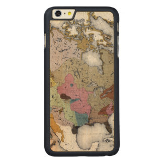 MAP: AMERICAN INDIANS 3 CARVED® MAPLE iPhone 6 PLUS CASE