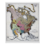 MAP: AMERICAN INDIANS 3 POSTER