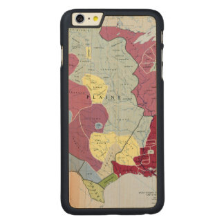 MAP: AMERICAN INDIANS CARVED® MAPLE iPhone 6 PLUS CASE