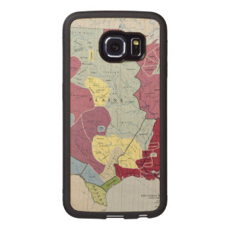 MAP: AMERICAN INDIANS WOOD PHONE CASE