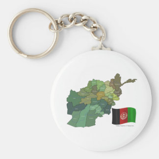 Map and Flag of Afghanistan Key Ring