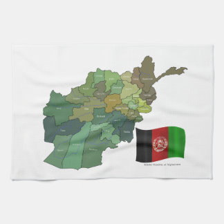 Map and Flag of Afghanistan Kitchen Towel
